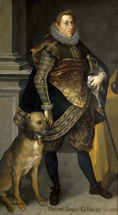 Joseph Heintz the Younger. Archduke Maximilian Ernst von Habsburg (1583-1616) with a Setter. Kunsthistorisches Museum: