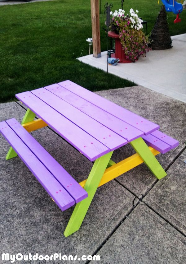 how to build a kids picnic table plans