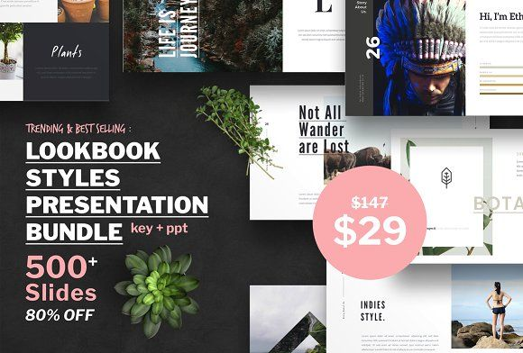 Lookbook Style Presentation. Best PowerPoint templates for businesses like social media, marketing, branding, education, advertising. More #creative #powerpoint #templates for your #business you can download here ➝ https://creativemarket.com/templates/presentations?u=BarcelonaDesignShop