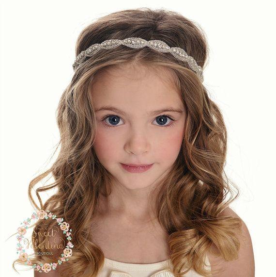 Rhinestone bridal headband, wedding headband, Flower Girl Headband, crystal headband, bohemian brida