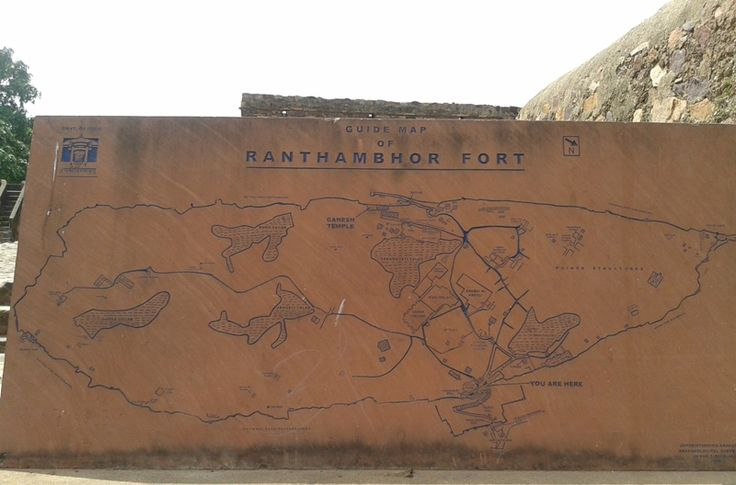 Map of the Ranthambore #Fort , you can find just crossing Andheri gate