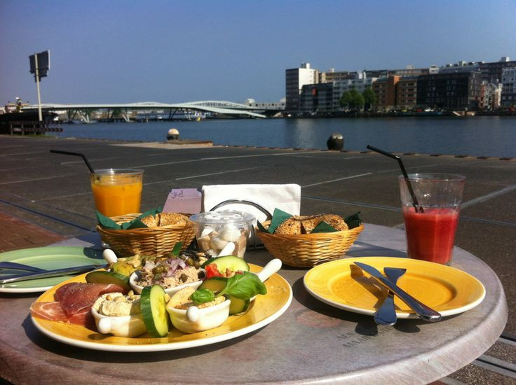 Bagels&Beans Veemkade Amsterdam.  Good food and a nice view!
