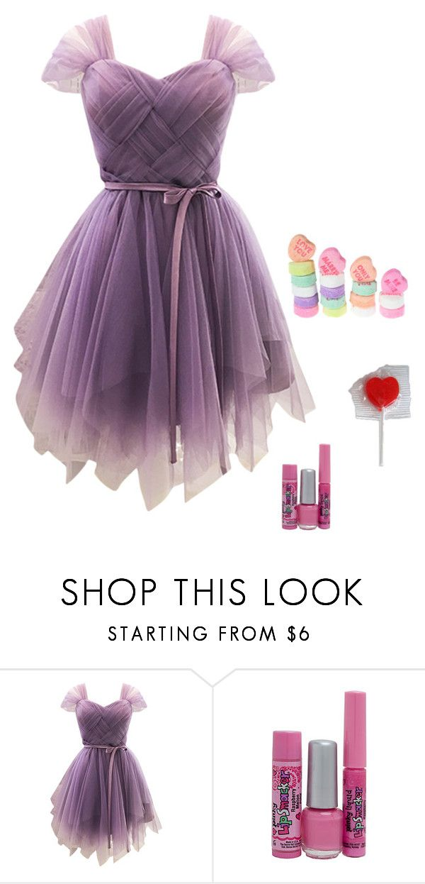 """""""homecoming"""" by stellastarlight ❤ liked on Polyvore featuring WithChic and Bonne Bell"""