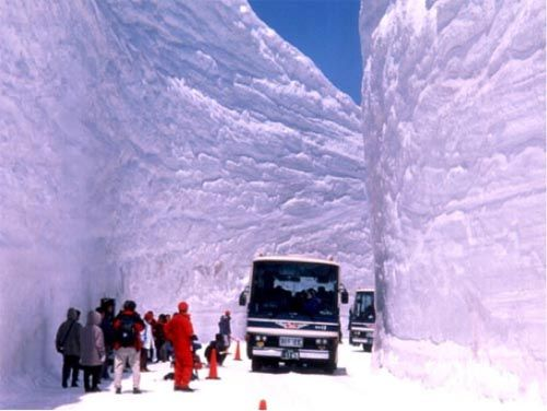 "Weather Extremes  	  Record Snow Depth (for an official site) Measured in Japan  Posted by: Christopher C. Burt, 8:38 PM GMT on February 21, 2013 	+2 	  An amazing 515 cm (202.8"" or almost 17') level snow depth was measured at Sukayu Onsen, Aomori on Honshu Island in Japan on February 21st, the deepest snow measured at an official weather site in Japan records."