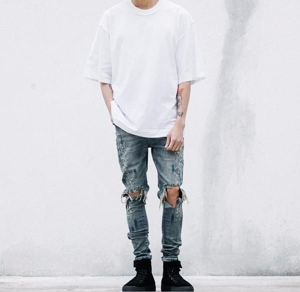 Slim ripped painter jeans