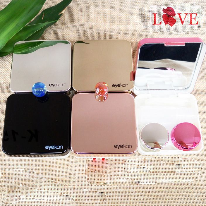 High-end Travel Glasses Contact Lenses Box Contact lens Case for Eyes Care Kit Holder Container Gift