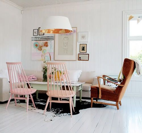 seating: Decor, Interior Design, Pastel, Ideas, Living Rooms, Livingrooms, Color, Interiors, Pink Chairs