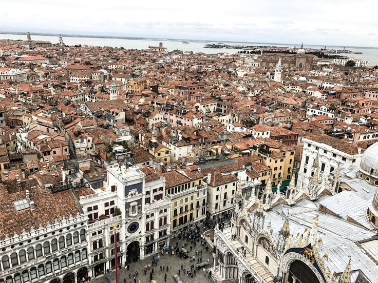View from San Marco tower over Venice.