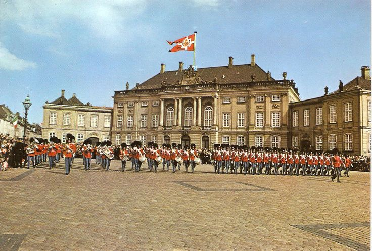 Amalienborg Slot - the winter residence of the Danish Monarchy