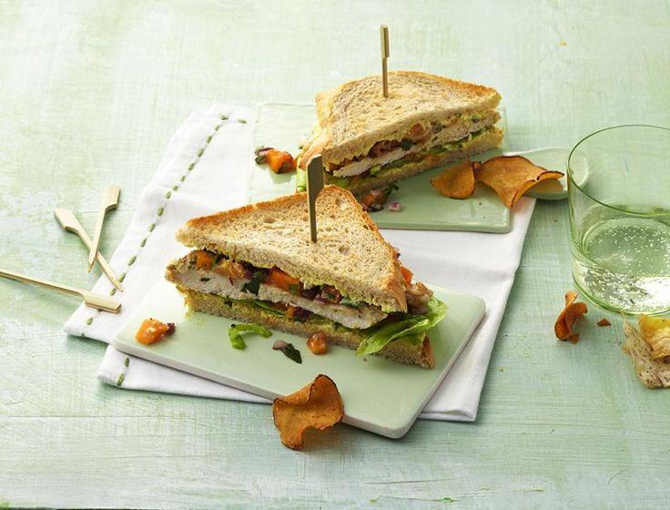Hähnchen-Sandwich Rezept - [ESSEN UND TRINKEN]