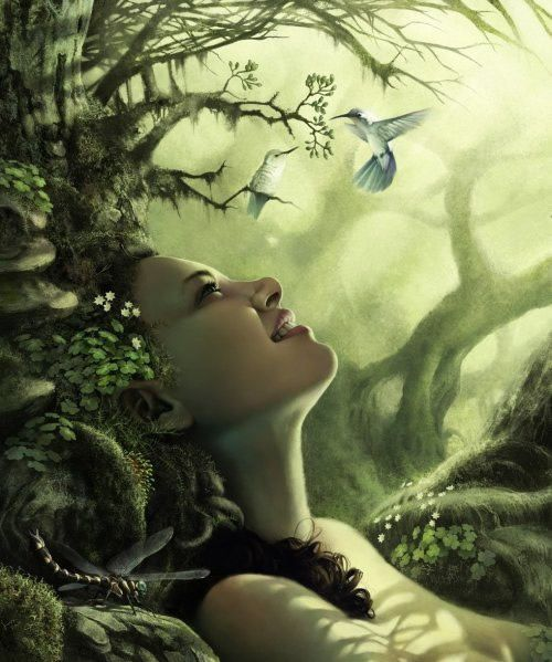 Sie ruht in der Erde. Erwacht sie, erwacht der Wald, öffnet sie ihre Augen, öffnen sie die Knospen zu neuem Leben.