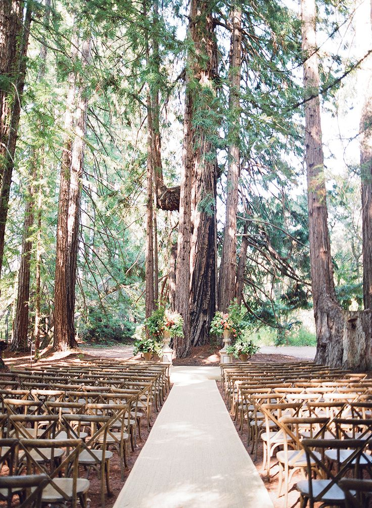 In the woods rustic wedding ceremony: photographer : Joel Serrato Films + Photographs - joelserrato.com Read More on SMP: http://www.stylemepretty.com/2017/01/30/a-wedding-in-the-woods-with-nods-to-the-brides-equestrian-roots/