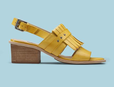 Women's yellow leather sandal - Berrick Ruby | Clarks.eu