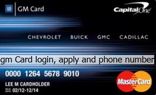 GM Card Login, Application and Phone Number Credit card