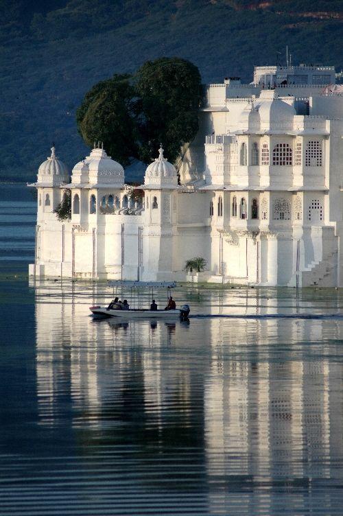 Lake Palace Hotel - Udaipur - India.                                                                                                                                                                                 More
