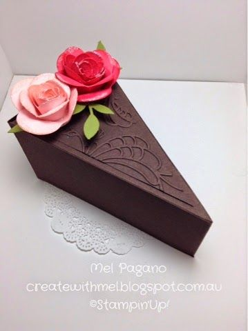 CreatewithMel: Petal Cone Die Cake Box