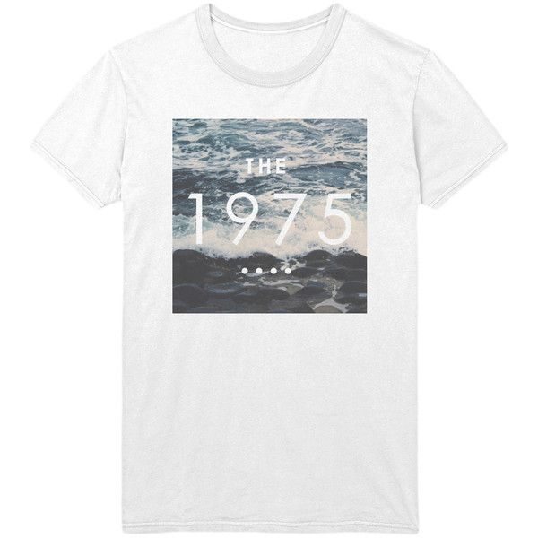 The 1975 Ocean Logo T-Shirt - 1975 band Indie Rock Music Shirt /... (21 AUD) ❤ liked on Polyvore featuring tops, t-shirts, shirts, loose t shirt, loose shirts, loose fitting t shirts, folding t shirts and logo t shirts