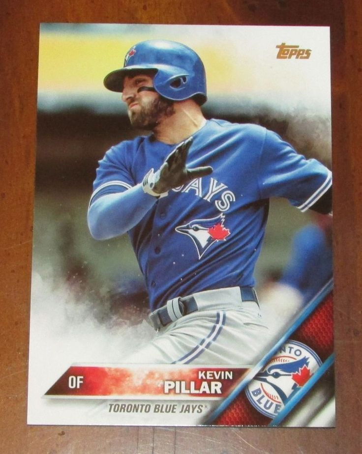 2016 topps #baseball #182 kevin pillar base card toronto blue jays from $1.0