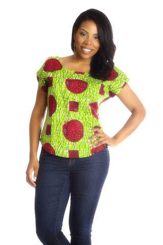 Africhiffon Top (Open Back) – Shop #AfricanFashion at Kuwala!