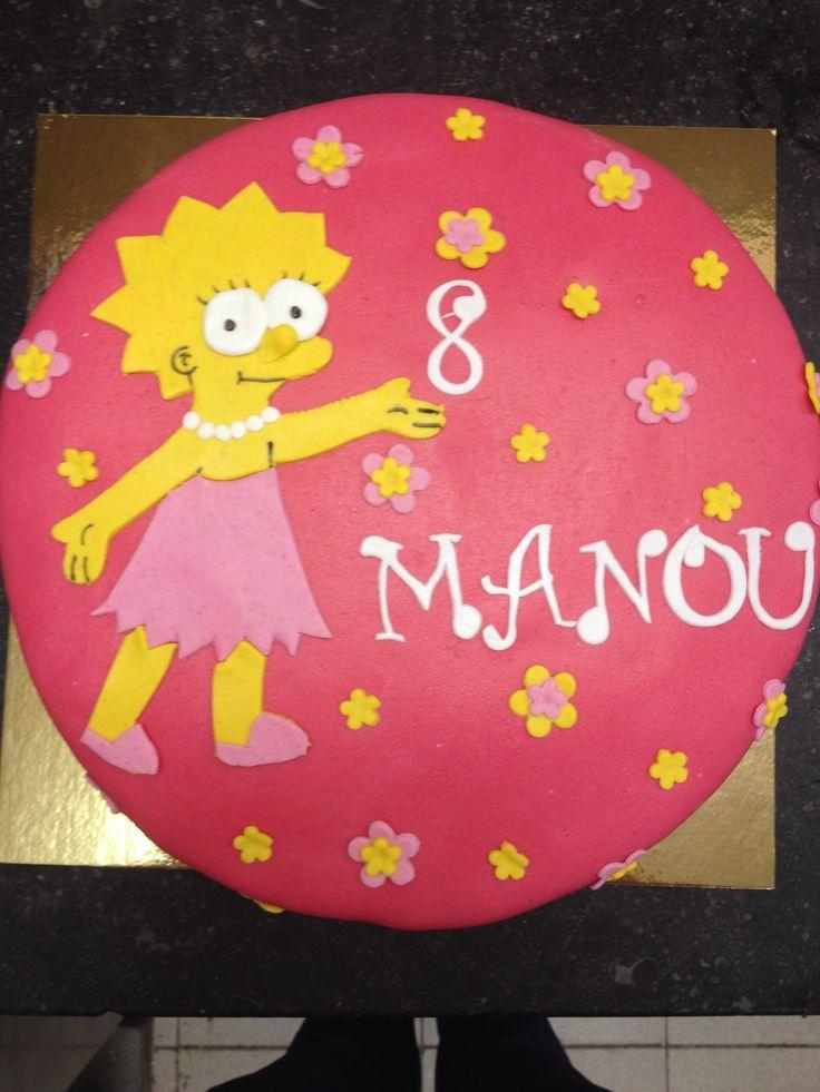 Lisa Simpson taart