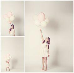 Kinderfotos von Mädchen mit Heliumballons aufgenommen von professionellem Kinderfotografen in Berlin © Berliner Fotostudio LUMENTIS