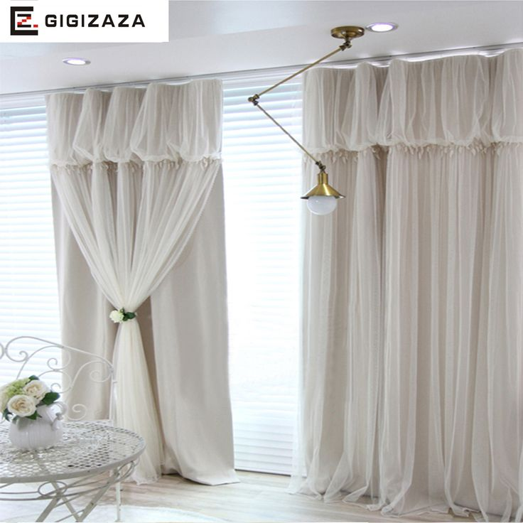 Cheap curtain window, Buy Quality custom curtains directly from China cloth curtain Suppliers: Torino tassels lanterns head top curtain ivory color cloth curtain+voile sheer black out fabric bedroom customize curtain window