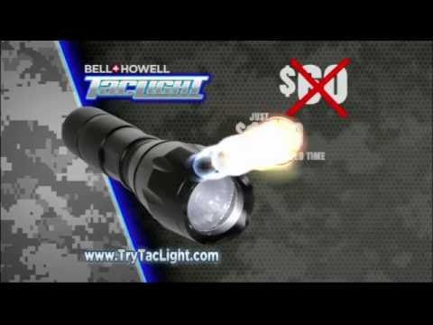 Tac Light is the military grade, high performance tactical flashlight. It is 22x brighter than regular flashlights, and can be seen 2 nautical miles away. Tac Light is compact and lightweight, and it works when frozen on even under water.
