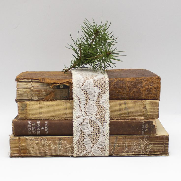 Leather & Lace Shabby Chic Coffee Table Book Stack
