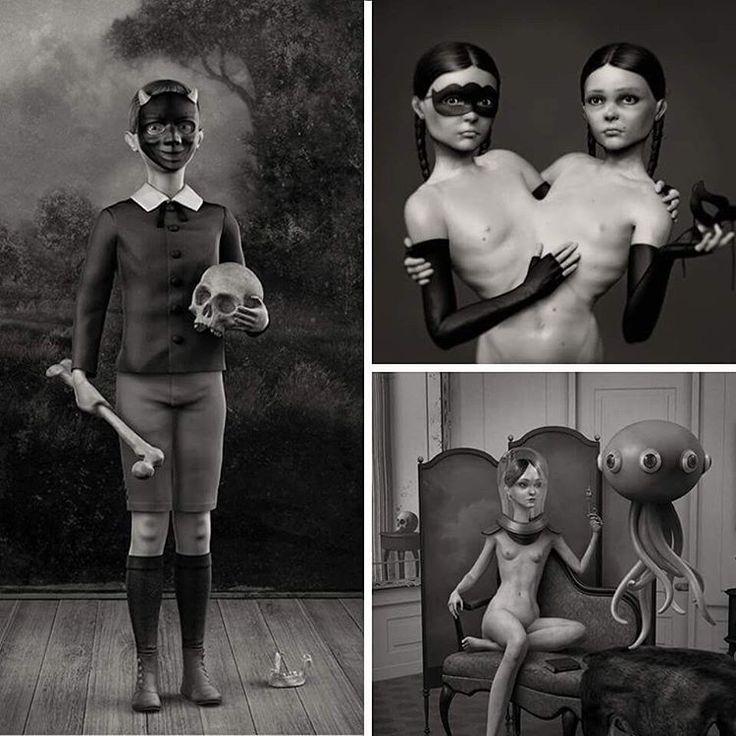 Genellikle karanlık temalar, karamsar ve dalgın portrelerle karşımıza çıkan Danny Van Ryswyk, 3D heykeller üzerine yoğunlaşıyor. Sanatçı anormal, paranormal, mistik ve bu dünyadan uzak olan şeylerden ilham aldığını söylüyor. Amsterdam merkezli dijital ressam ve heykeltıraş özellikle gerçeküstü eserler üzerine yoğunlaşıyor. #anormal #paranormal #heykel #heykeltıraş #dannyvanryswyk #3dheykel #sanatçı #kolaj #sanat #artfulliving #art @dannyvanryswyk…