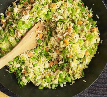 Spice up your rice with this easy recipe and feel free to mix things up with different veg