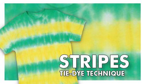 Stripes Tie-Dye Technique #tiedye #craft