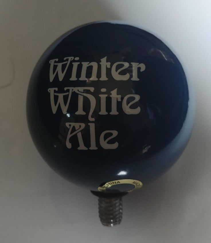 Bell's Brewery Winter White Ale Ball Beer Tap Topper