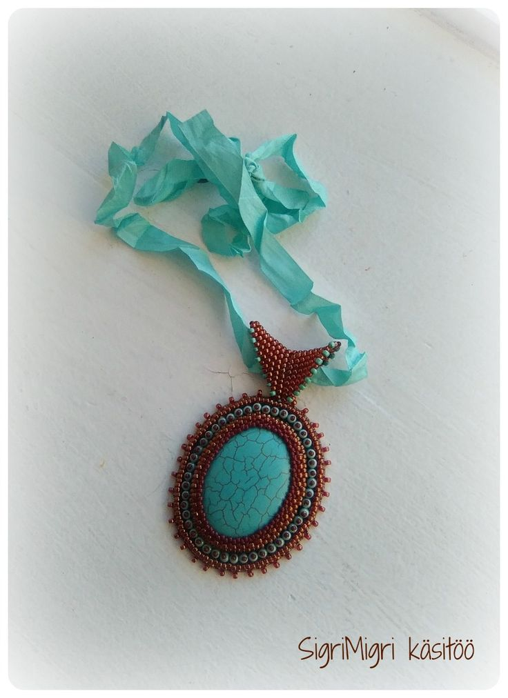 Bead embroidery- necklace