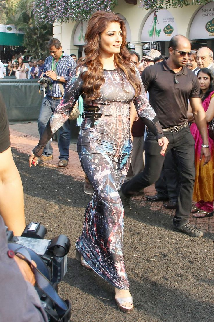Raveena Tandon was spotted at the races, wearing a gown that hung to every curve on her still voluptuous body! #Style #Bollywood #Fashion #Beauty #Sexy