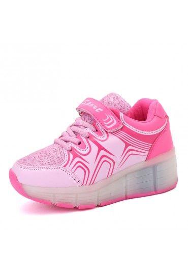 Rosa Kinder Atmungsaktiv Leuchtende Schuhe Die Rollen Jungen
