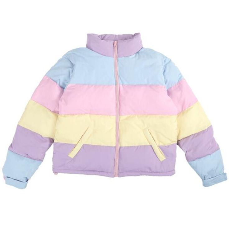 69.00$  Watch here - http://alitf9.shopchina.info/go.php?t=32712881357 - C17-New cute cotton women short section Loose thick coat jacket South Korea rainbow hit color warm students bread clothes  #buyininternet