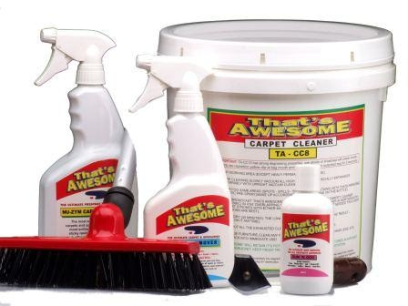Buy Professional carpet cleaning products online from That's Awesome. We sell 100% Australian non toxic cleaning kits to deliver the best dry cleaning solution for carpets. Carpet Cleaner Kit will cost you only $129.95