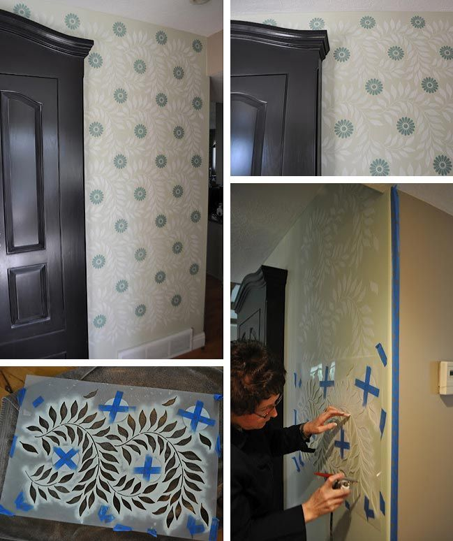 Airbrush Wall Stenciling with a Roar 322