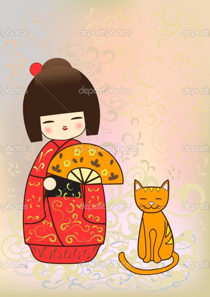 Japanese kokeshi doll   Stock Photo © Inna Ogando #2738493