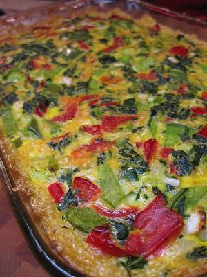 Vegetable and Quinoa Bake Crust: 2 cups plain cooked quinoa 1 egg