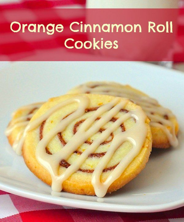 Orange Cinnamon Roll Cookies - crispy, buttery, orange cinnamon deliciousness.