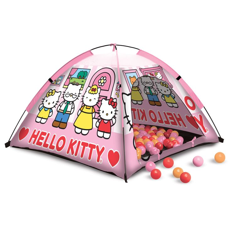 Hedstrom Hello Kitty Ball Pit Tent with 24 Balls