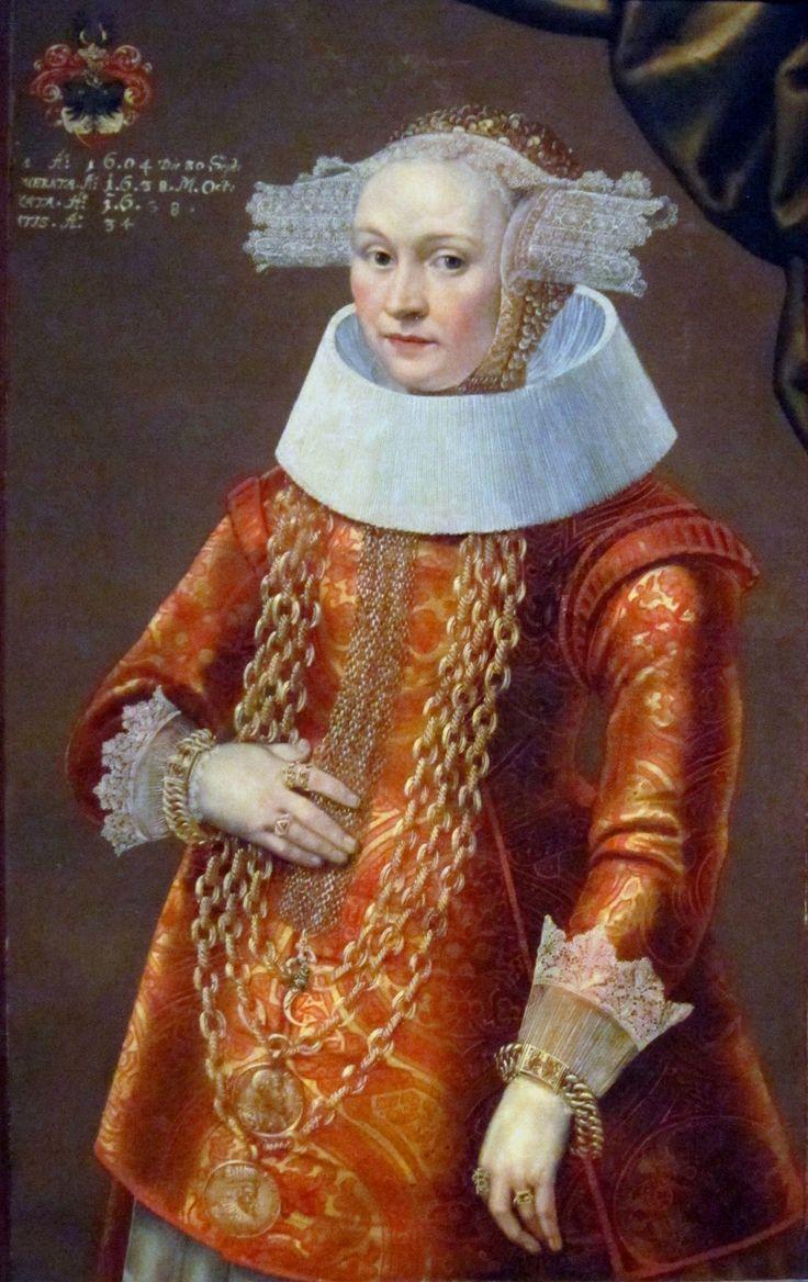 """Portrait of a daughter of Deiterich Bromsen"" by Michael Conrad Hirt, c. 1638"