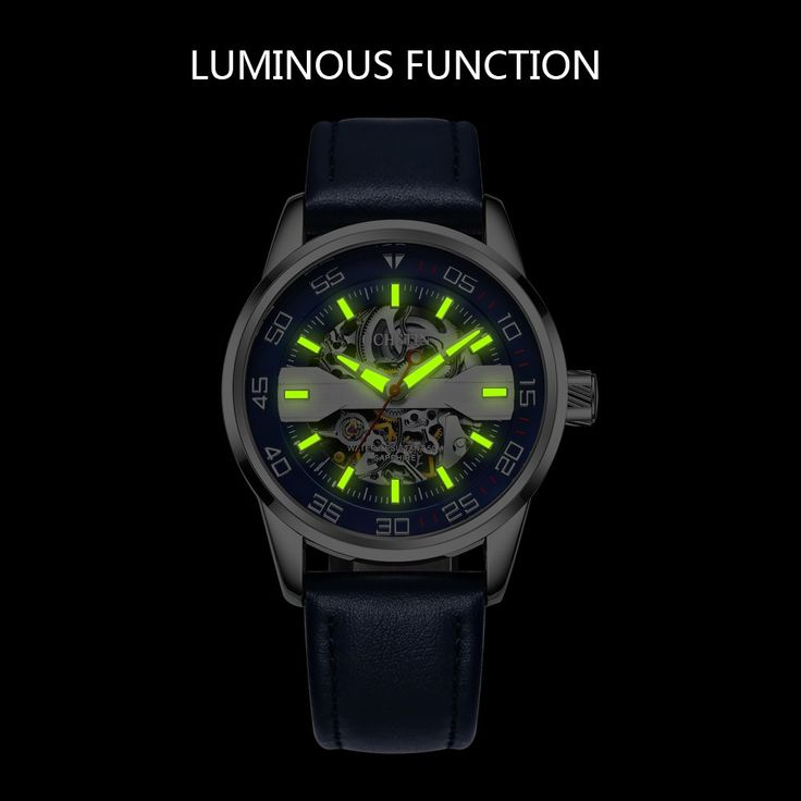 Cheap blue OCHSTIN Fashion Business Genuine Leather Automatic Men Watches Mechanical 3ATM Water-resistant Luminous Casual Man Wristwatch Online Shopping | Tomtop