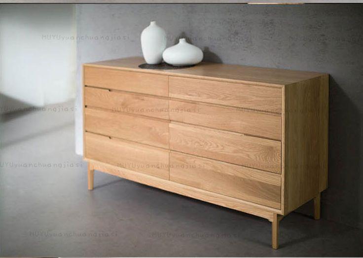 日式8斗柜纯实木斗柜卧室橡木储物柜现代北欧原木斗橱客厅家具-淘宝网