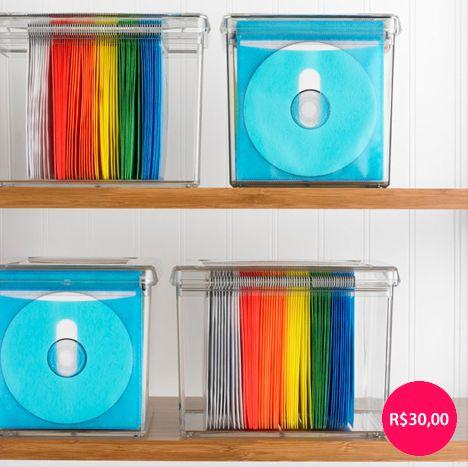 Caixa De Acrílico Para Organizar CDs