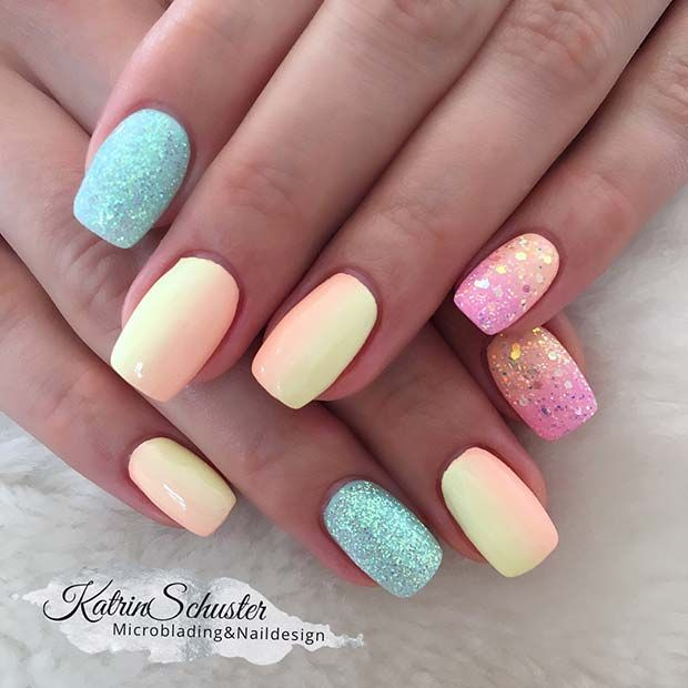 45 Cute Stylish Summer Nails For 2019 Cute Summer Nail Designs