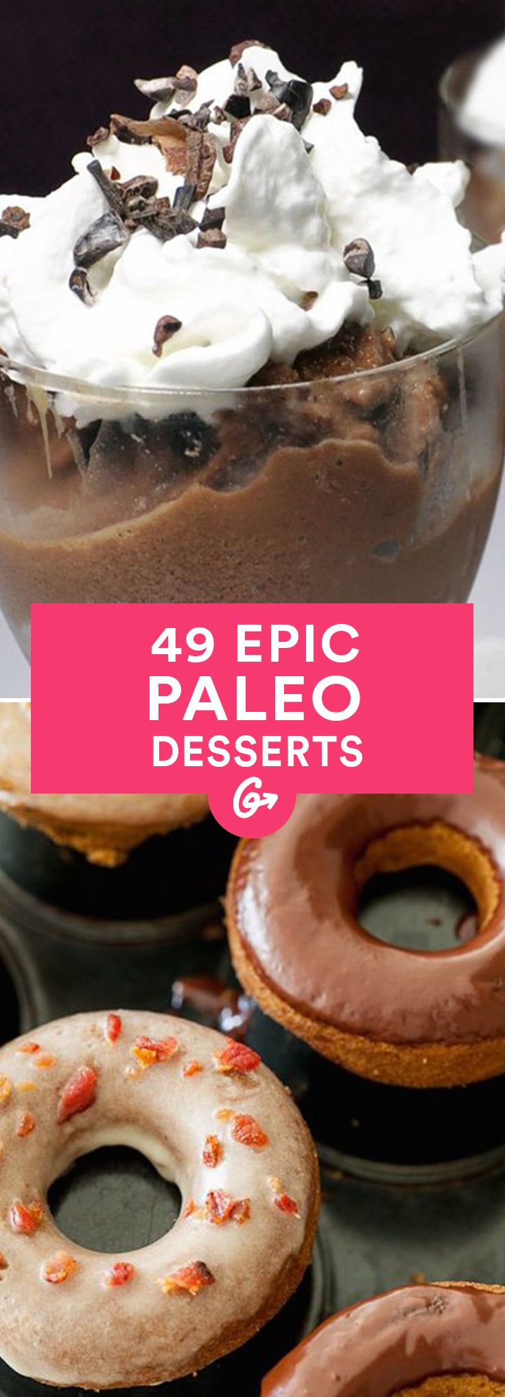 49 Paleo Desserts That Taste Anything But #paleo #desserts http://greatist.com/eat/paleo-dessert-recipes