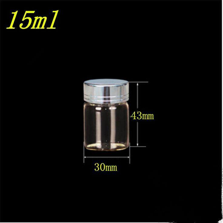 Банки контейнеры стеклянные бутылки с серебристый цвет металлический колпачок стеклянные бутылки 15 мл 25 мл 40 мл 50 мл 60 мл ювелирная упаковка 24 шт.