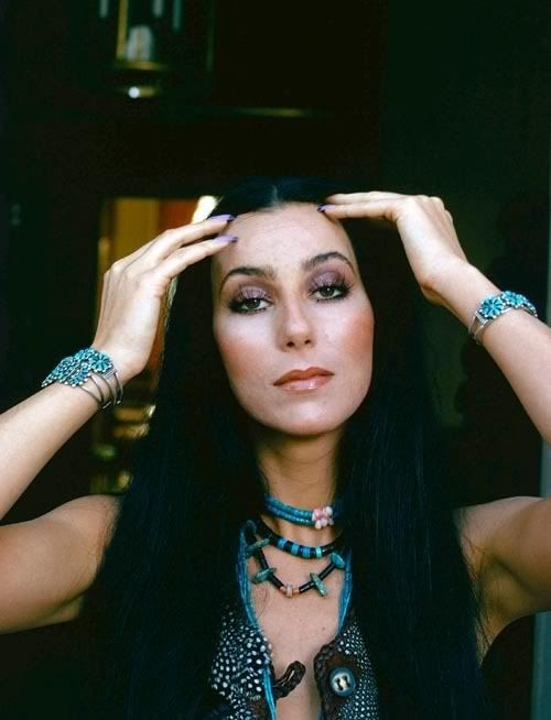 "Cher . With her deep features and gorgeous turquoise jewelry along with the hit ""HalfBreed"", many thought Cher was Cherokee or Native American but she is Italian .Her real name is Cherilynn   Sarkisian LaPierre."